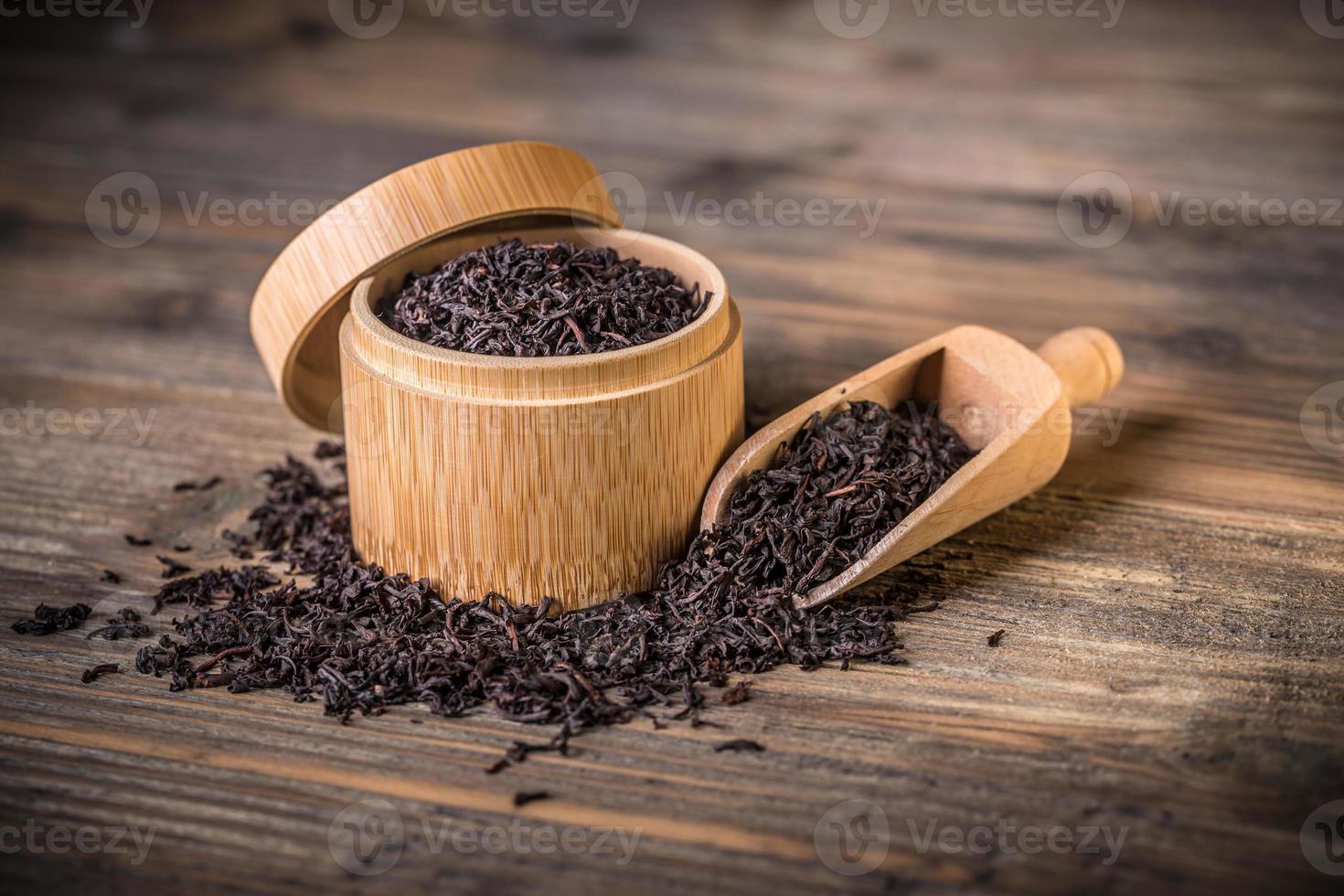 feuilles de thé séchées photo