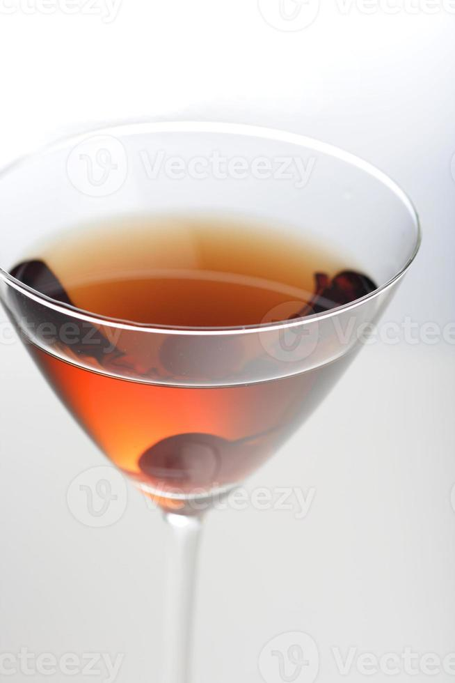 projectile studio, de, boisson, dans, verre martini photo