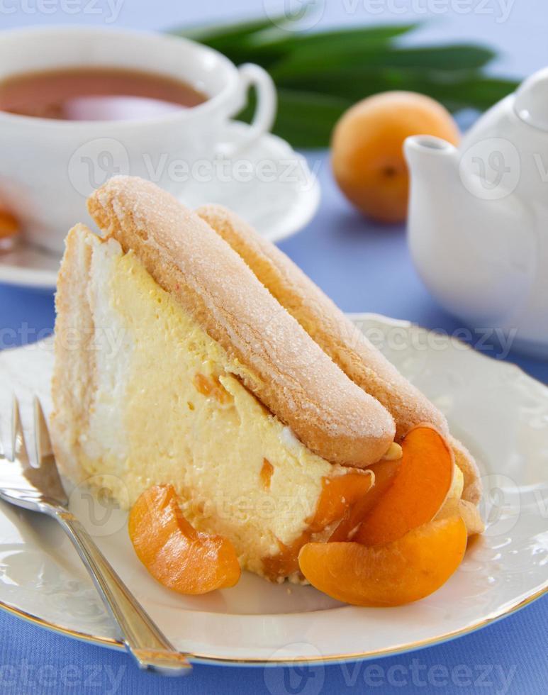 """gâteau aux fruits d'été """"charlotte"""" aux abricots. photo"""