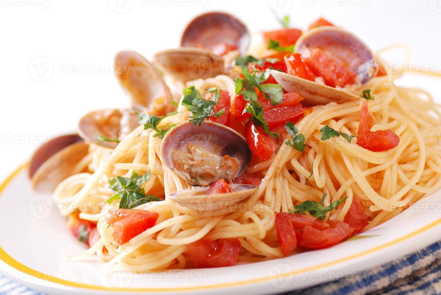 spaghetti aux palourdes photo