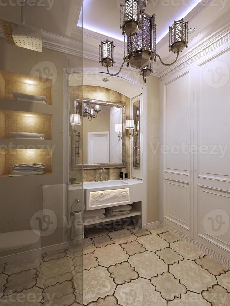 salle de bain style oriental photo