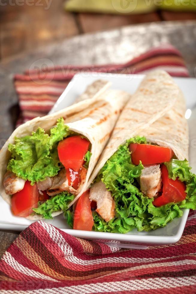sandwich au poulet photo