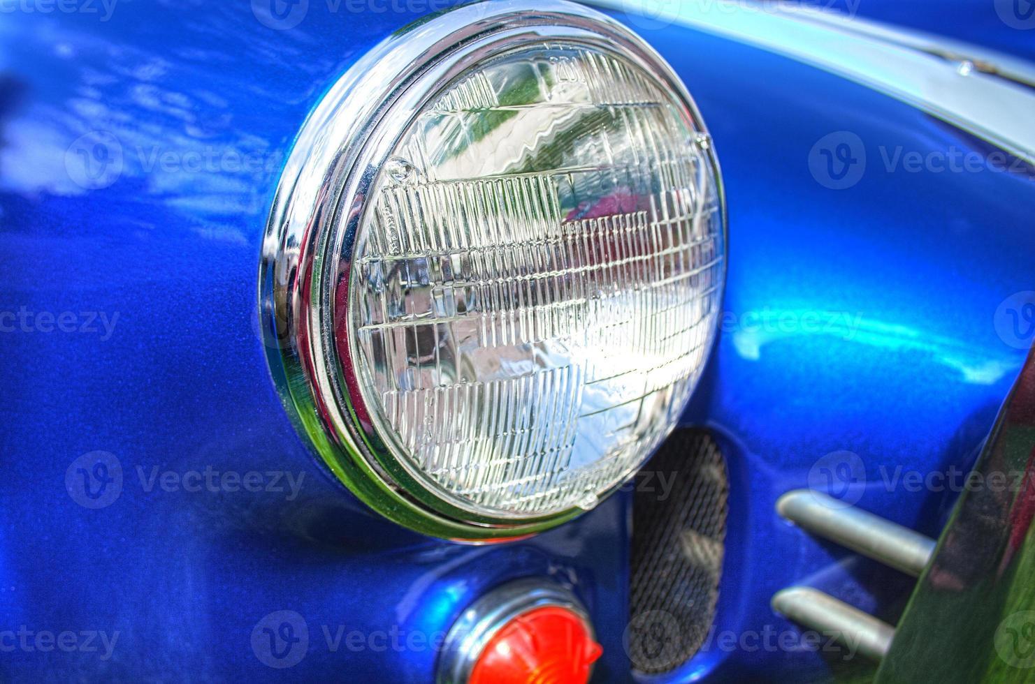 phare de voiture de sport rétro photo