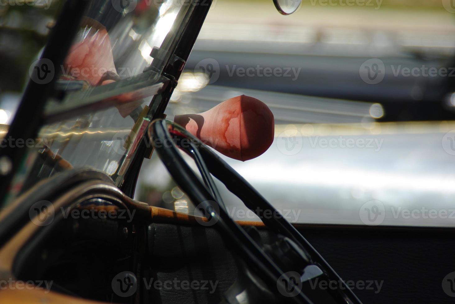 klaxon de voiture classique photo