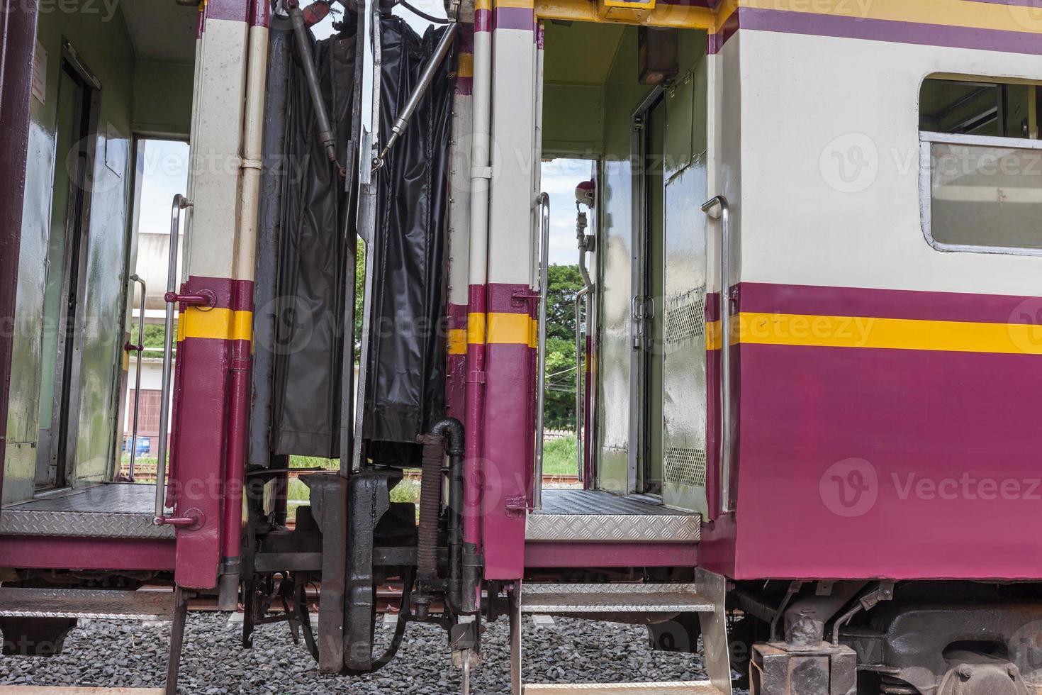 transport en train à la gare photo