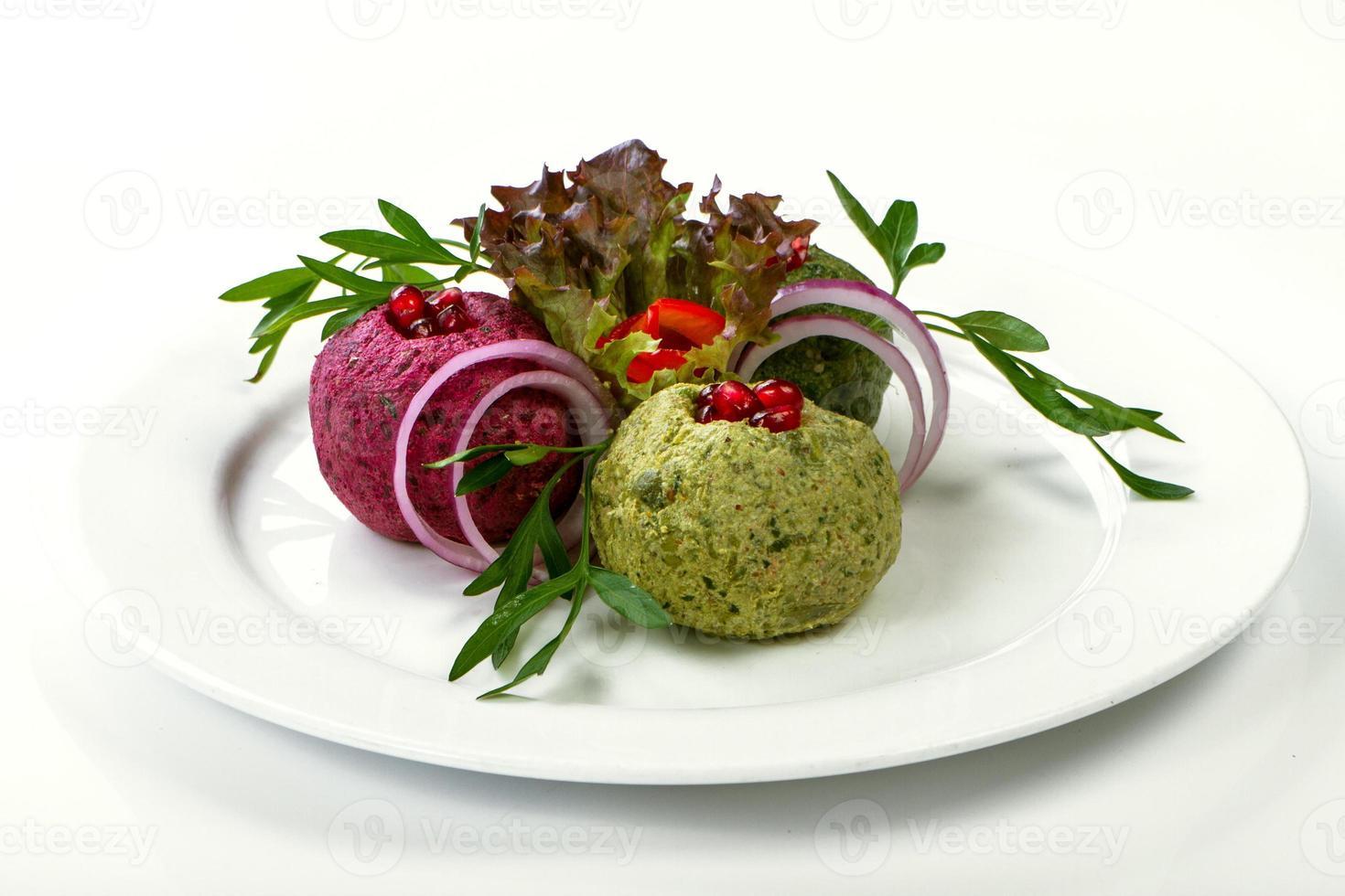 salade verte fraîche aux bébés épinards photo