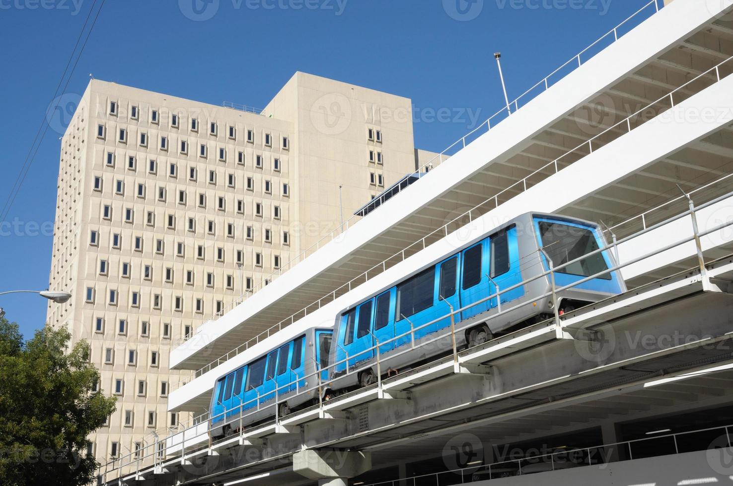 système de train du centre-ville de miami photo