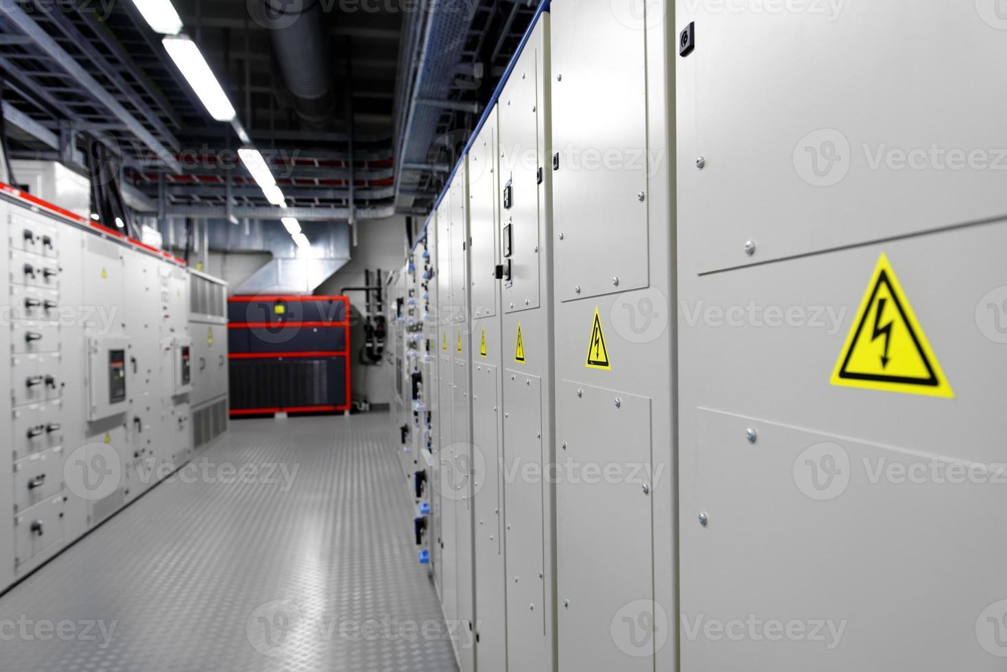 salle de contrôle d'une centrale électrique photo