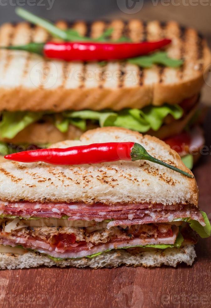 sandwichs club fraîchement préparés photo