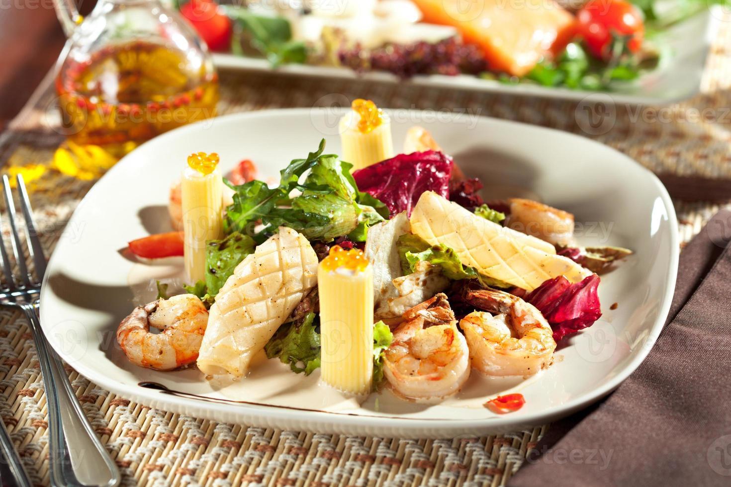 fruits de mer aux pâtes photo