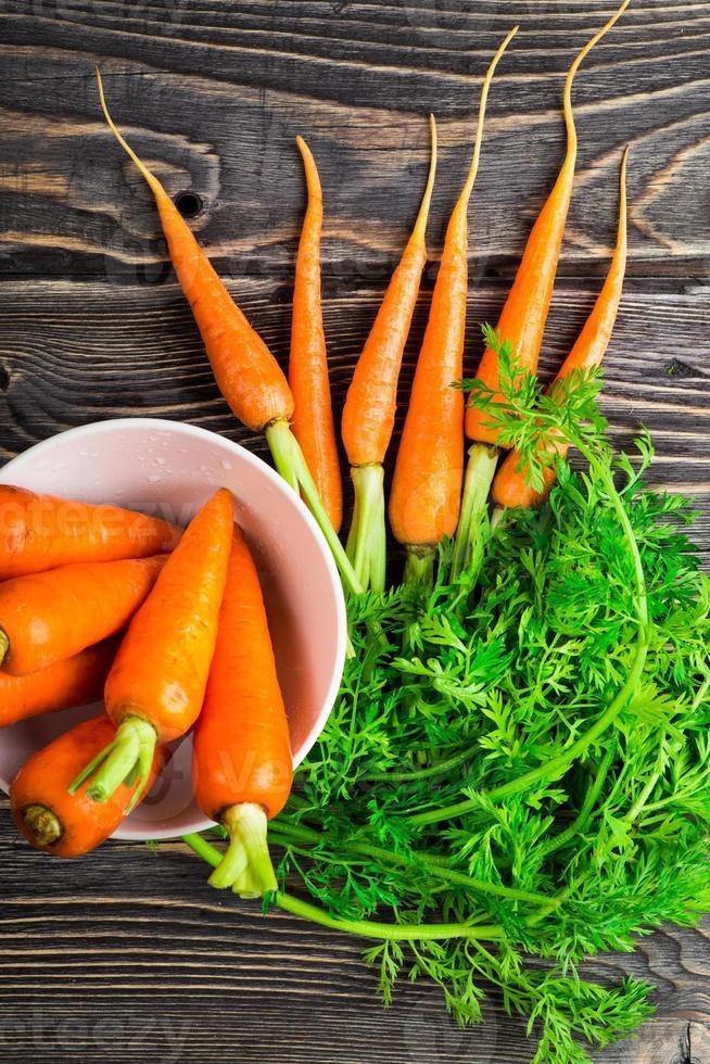 carotte biologique fraîche photo