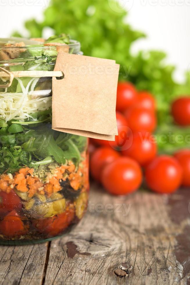 salade en pot photo