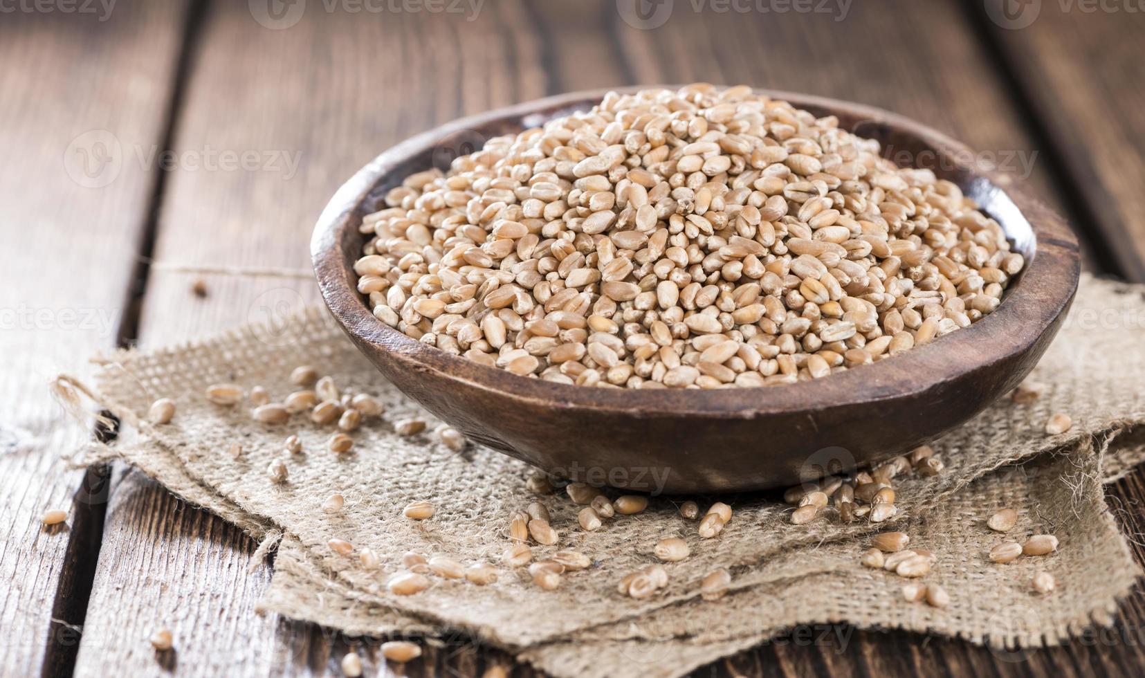 portion de grains de blé photo