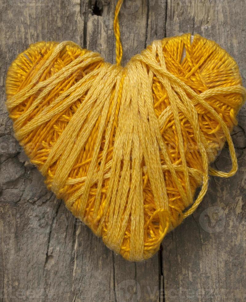 coeur jaune photo