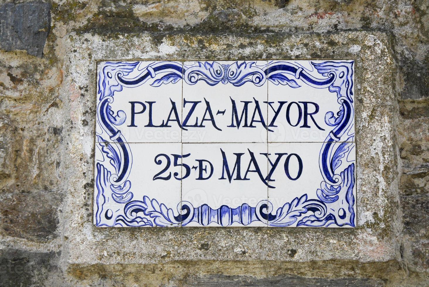 Plaque de rue Plaza Mayor photo
