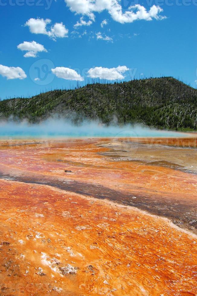le grand printemps prismatique au parc national de yellowstone photo