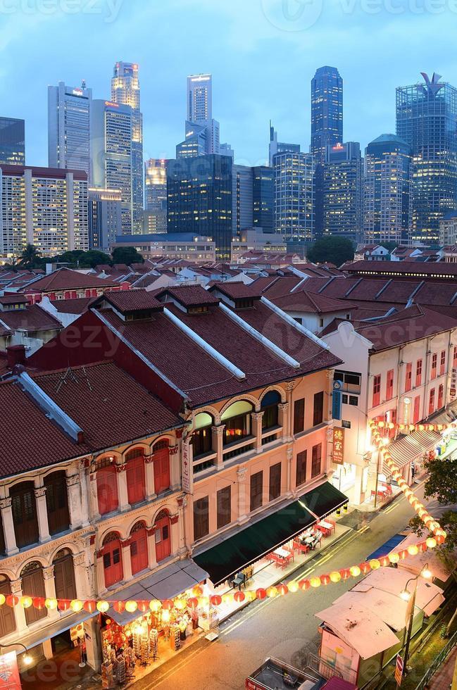 quartier chinois de singapour photo