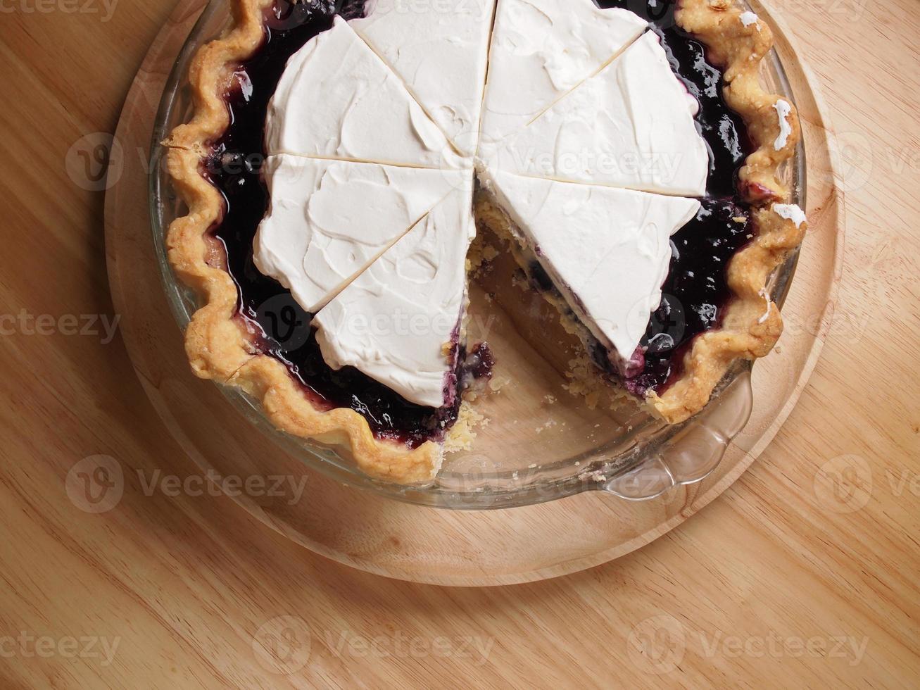 tarte à la crème aux bleuets photo