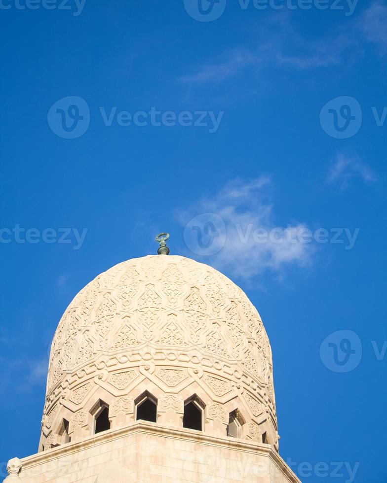 dôme d'une mosquée égyptienne photo