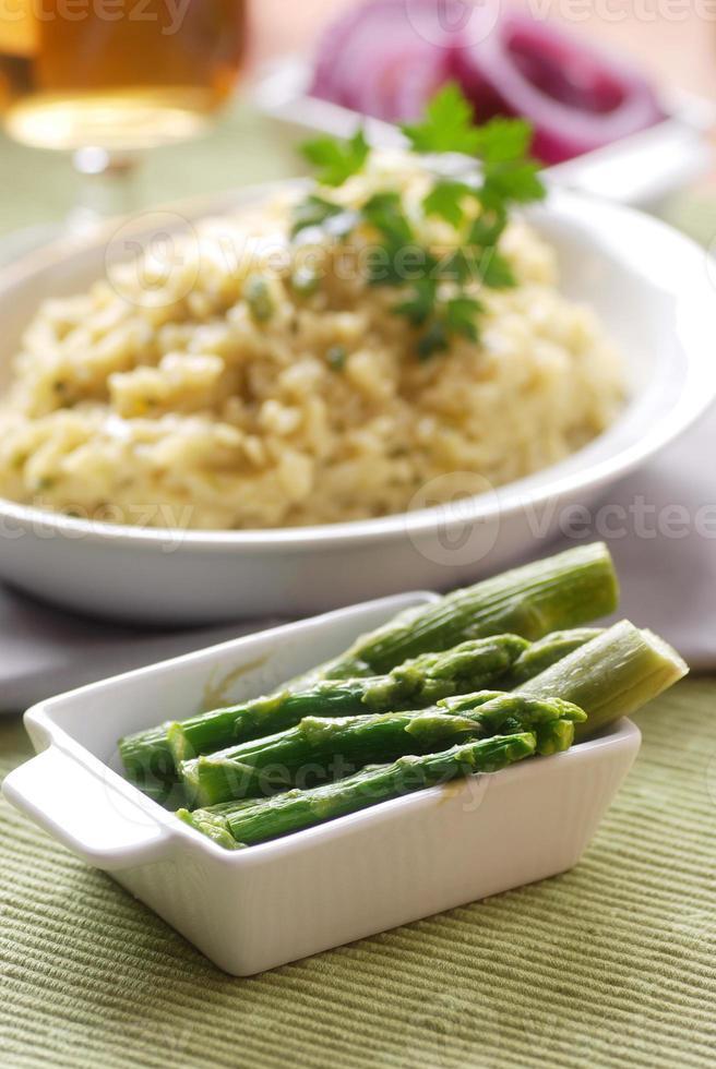risotto aux asperges photo