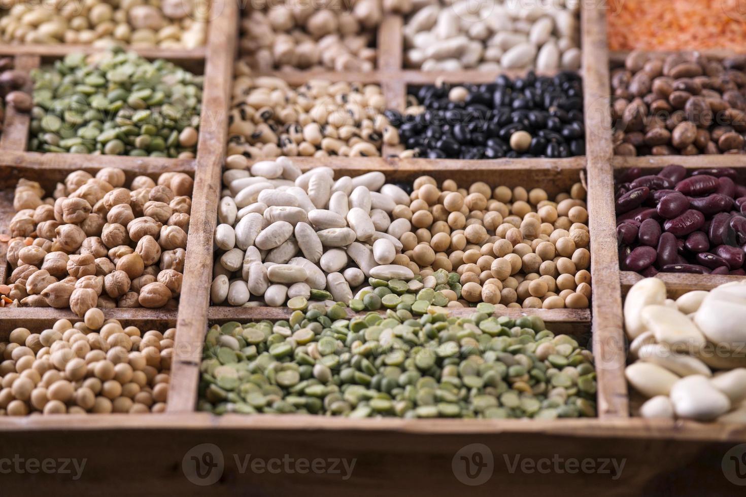 graines de légumineuses mélangées photo
