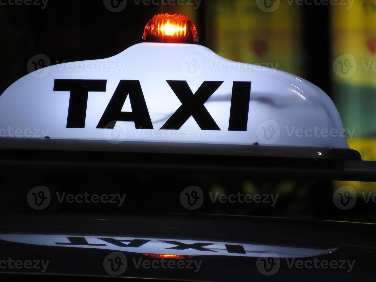 signe de taxi un photo