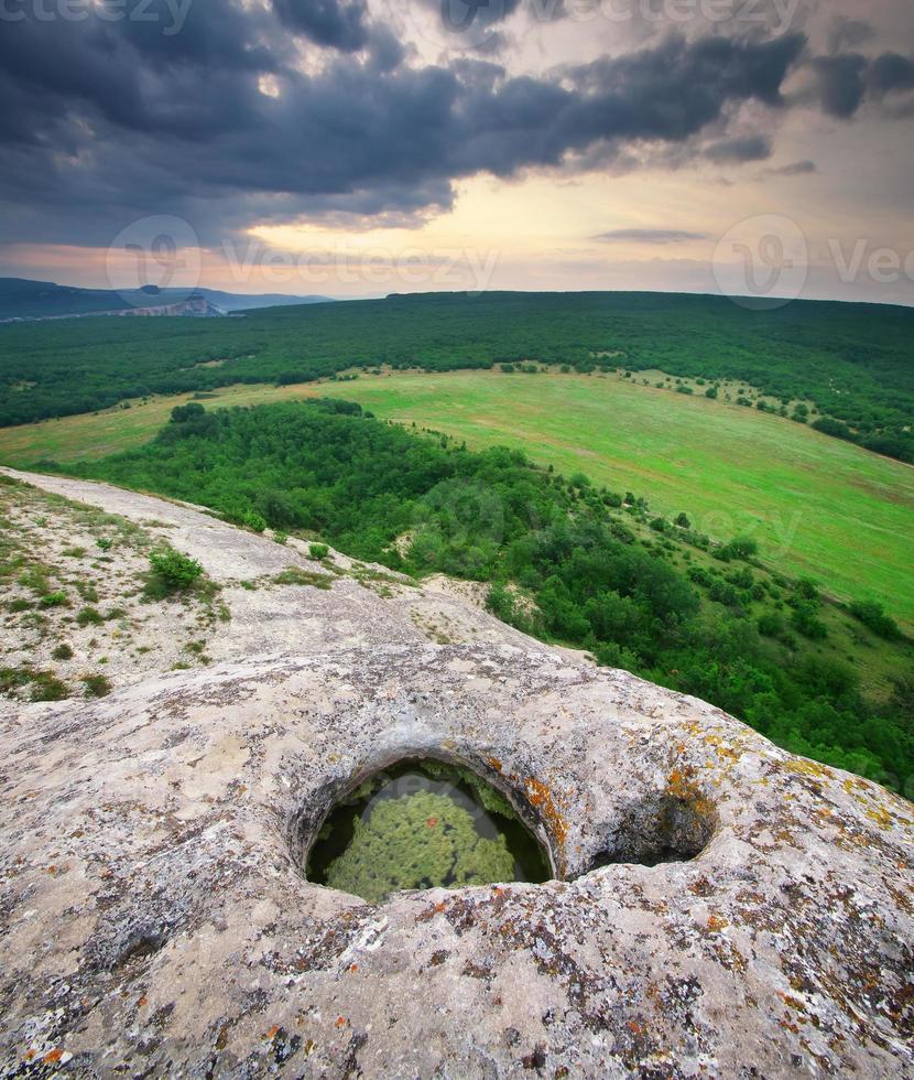 paysage panorama de montagne photo