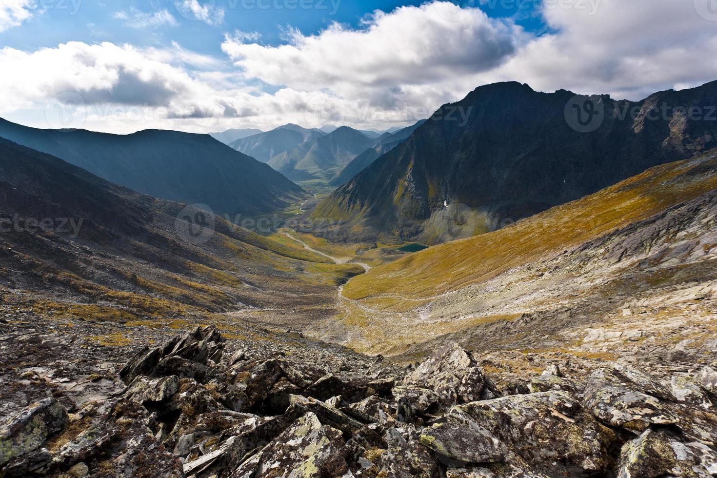 paysage de montagne magique. photo