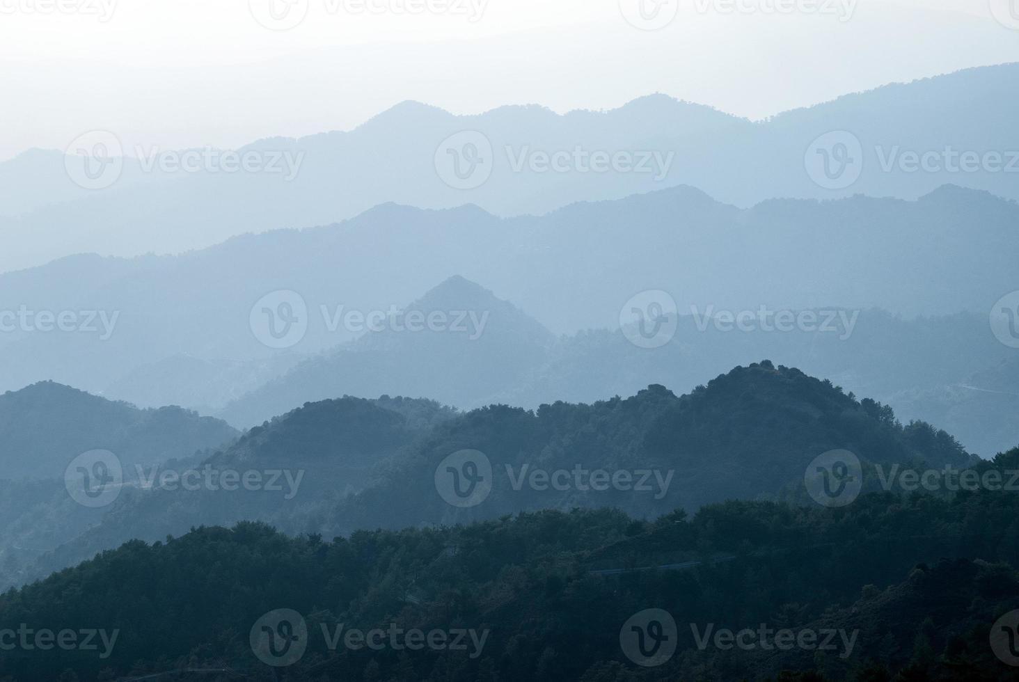 crêtes de montagne photo
