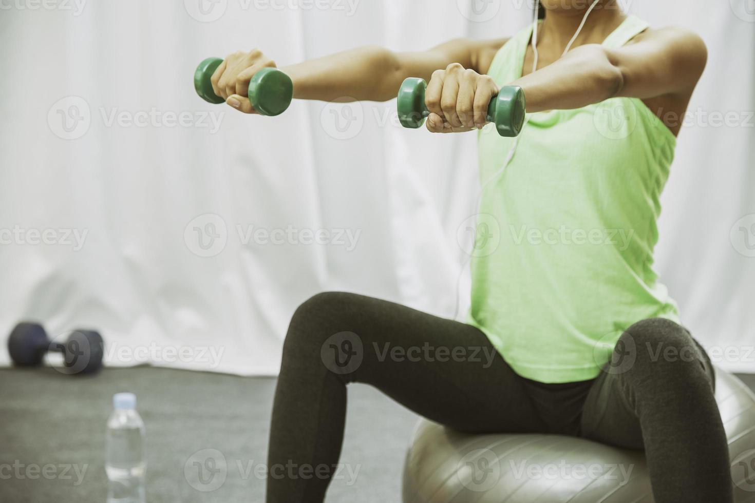 femme, lever poids, quoique, séance photo
