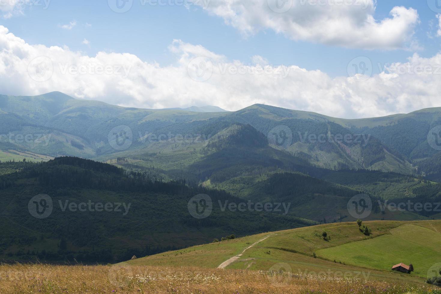 paysage dans les Carpates ukrainiennes photo