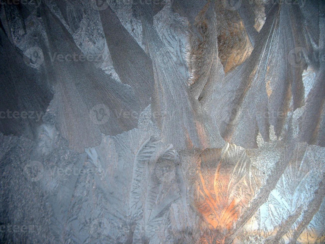 fenêtre d'hiver gelée photo