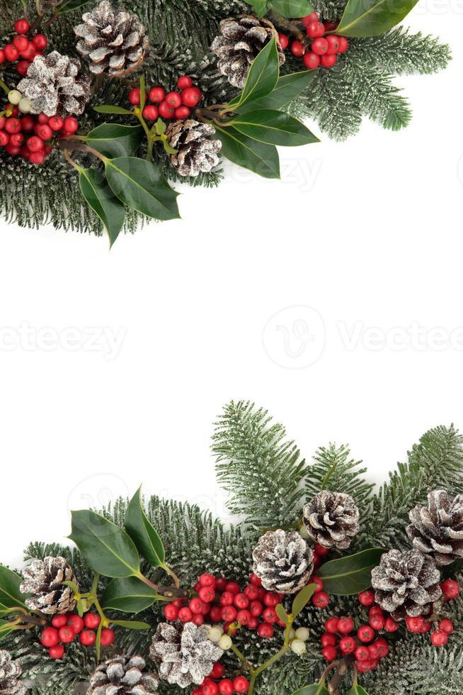 bordure d'hiver festive photo