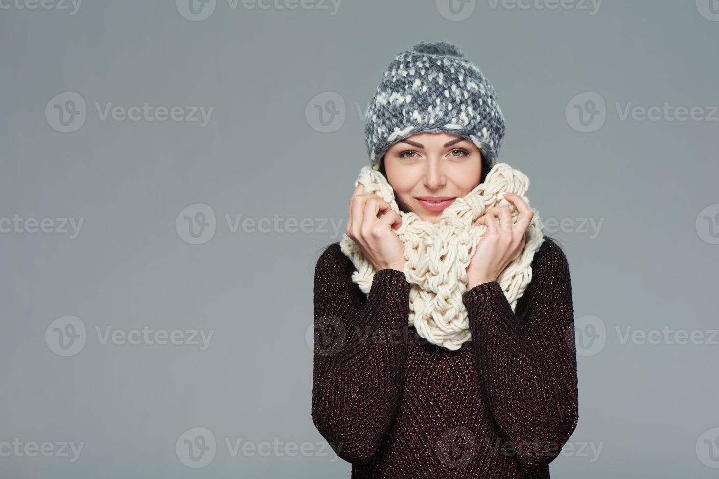 fille de Noël, concept d'hiver. photo