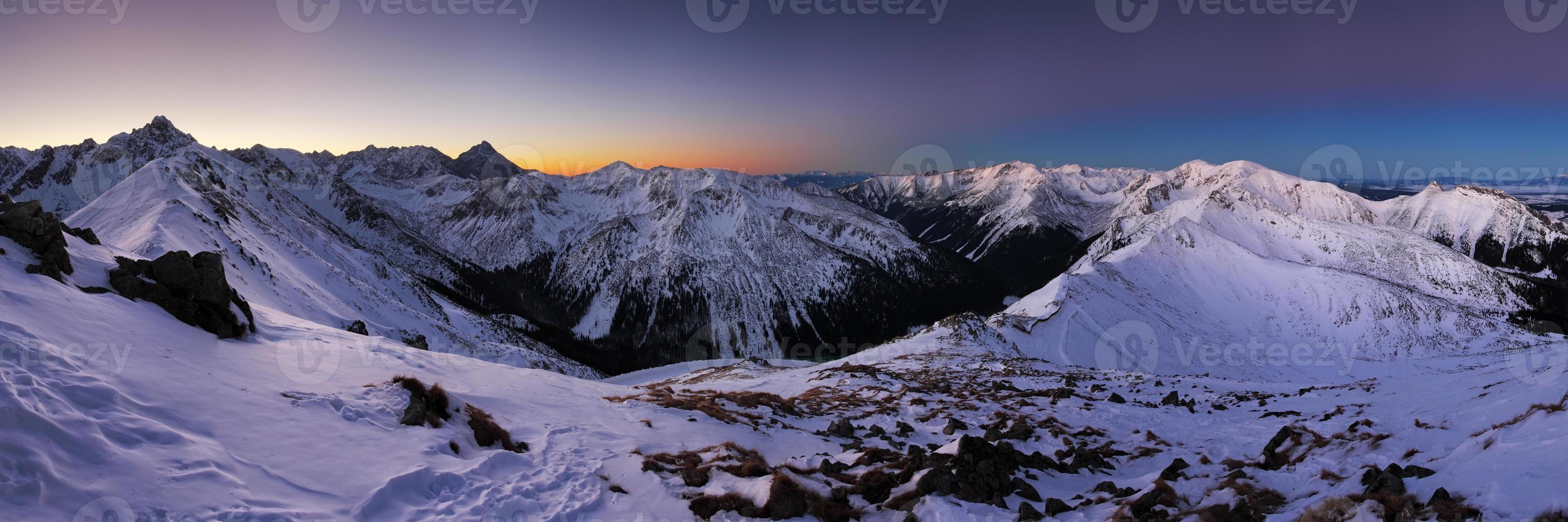 montagne d'hiver en pologne, kasprowy photo