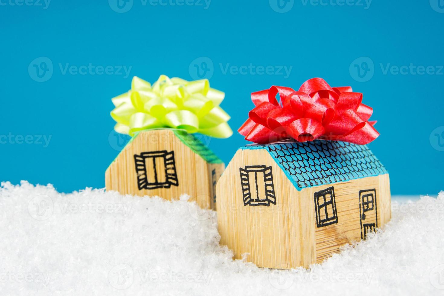 acheter une nouvelle maison en hiver photo