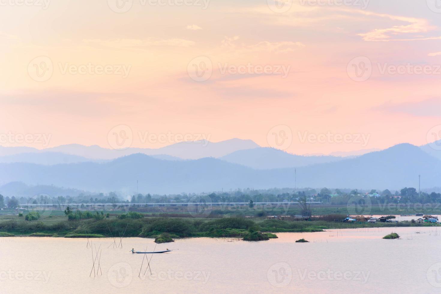 vue sur le lac photo