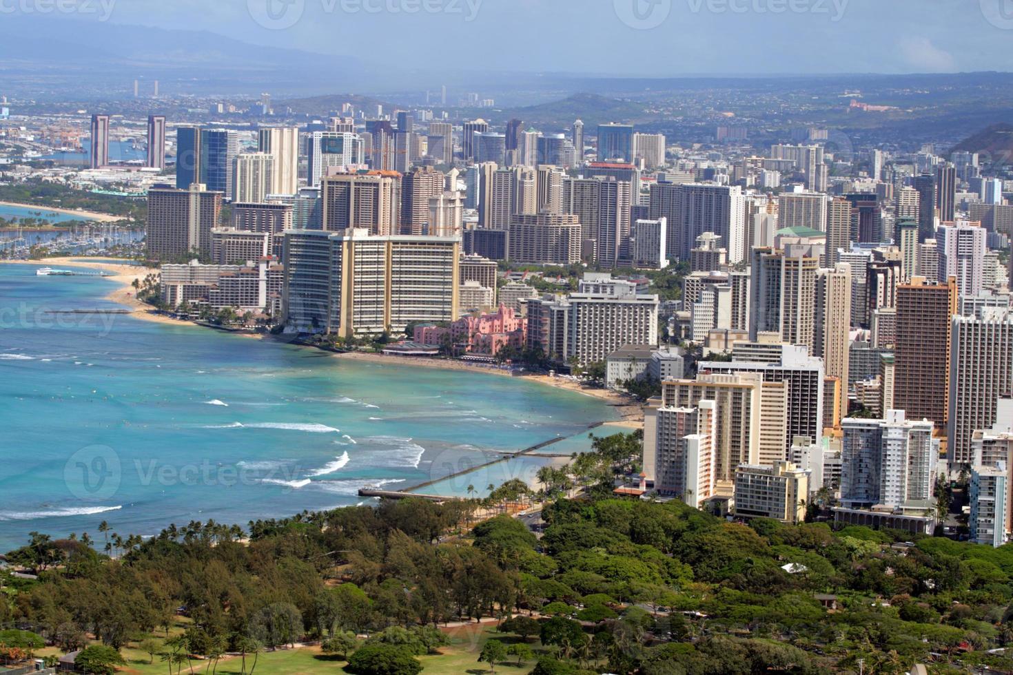 Waikiki Beach, Honolulu, Oahu, Hawaï photo