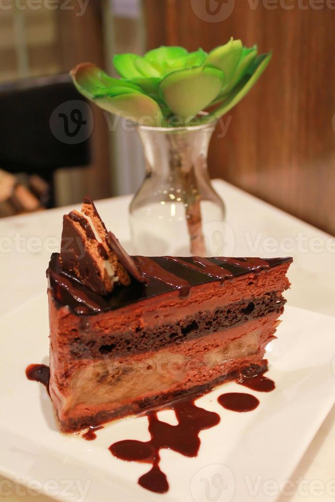 gâteau au chocolat à la banane photo