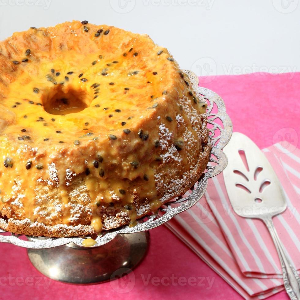 gâteau éponge en mousseline de soie banane photo
