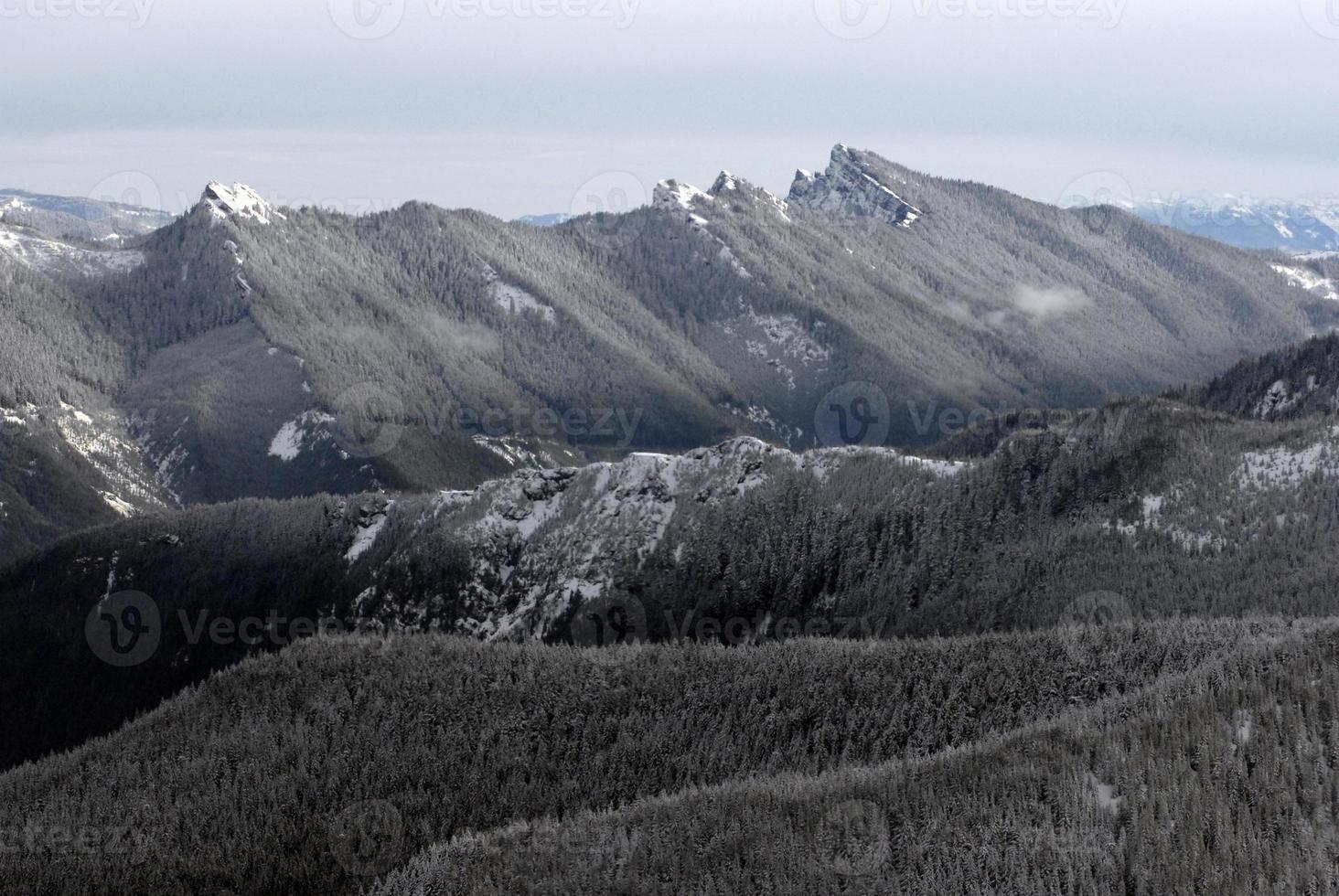montagnes en cascade, état de washington photo