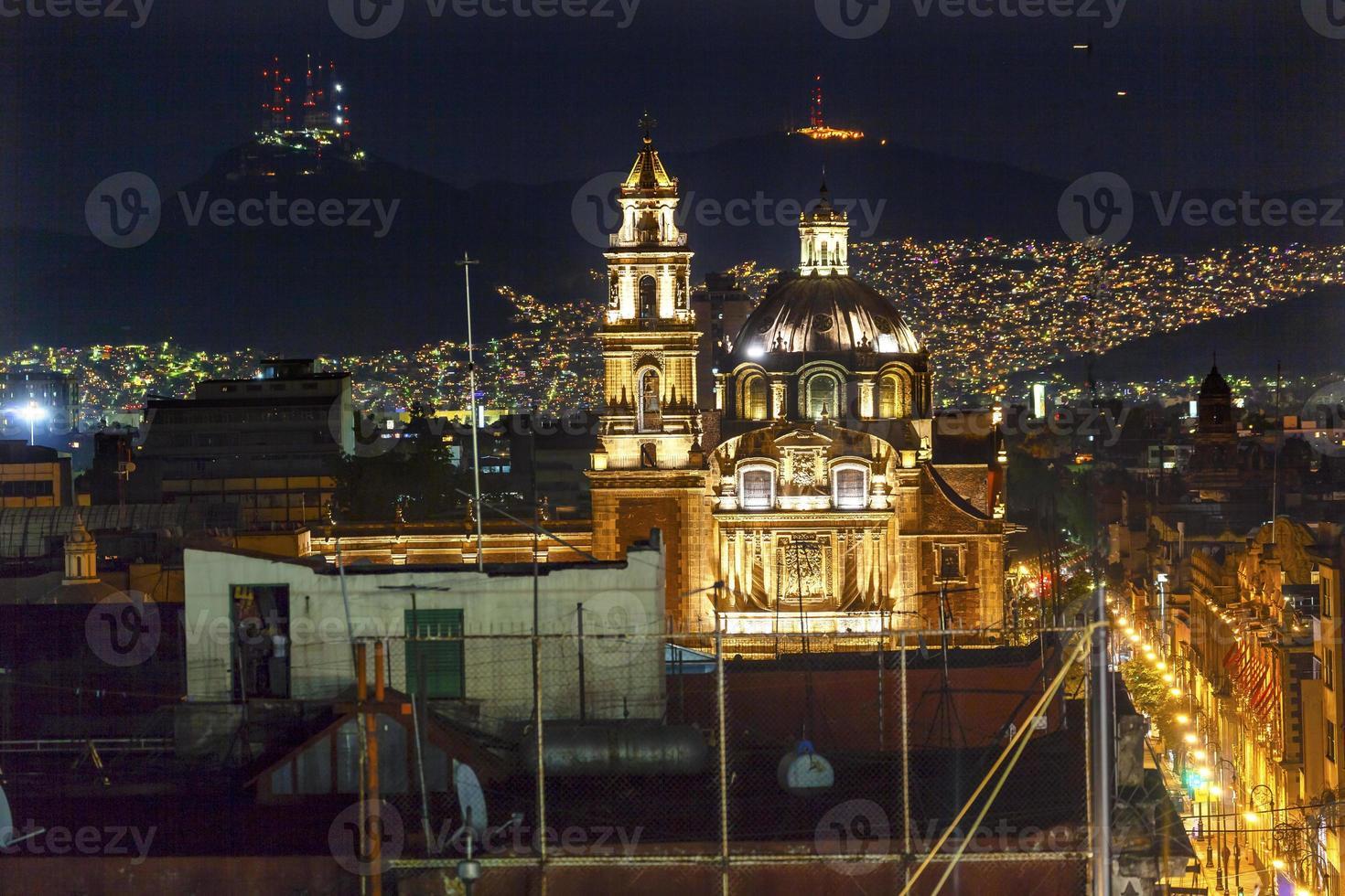 plaza de santa domingo chruches zocalo mexique mexique photo