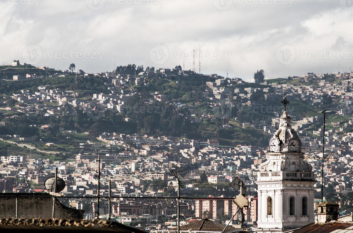 tour, de, santo, domingo, église, dans, colonial, quito, équateur, sud photo