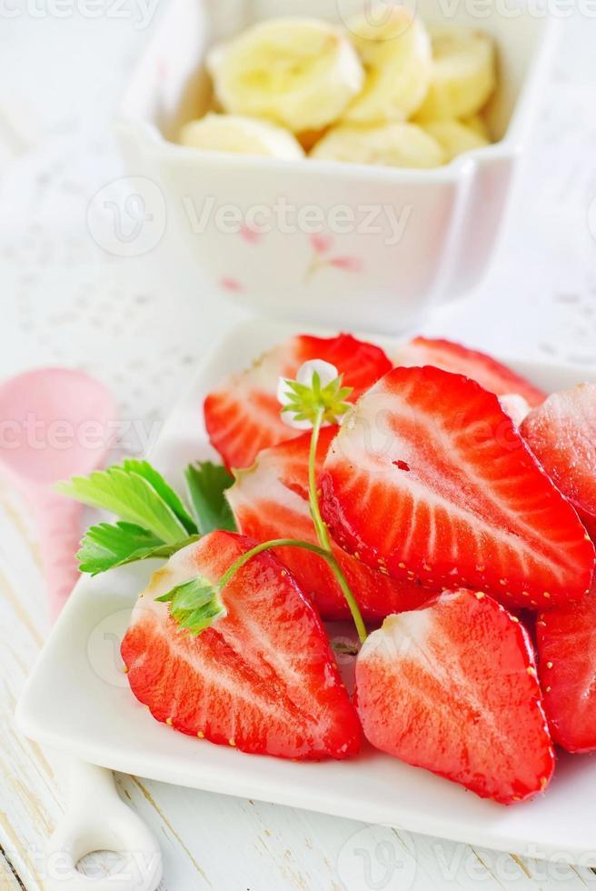 banane et fraise photo