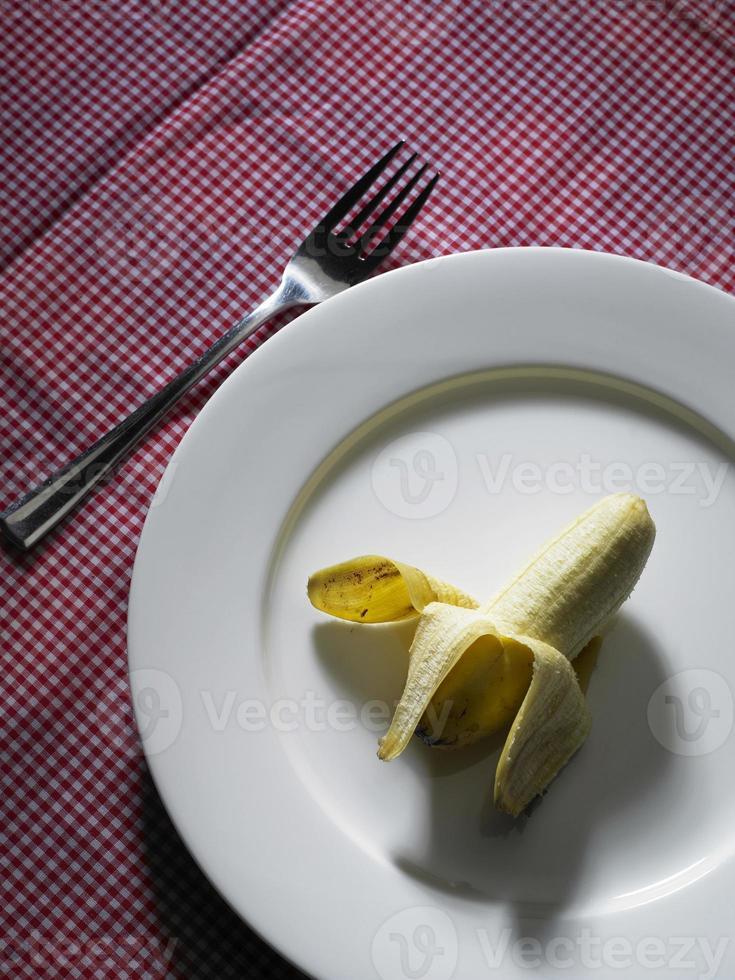banane sur une plaque photo