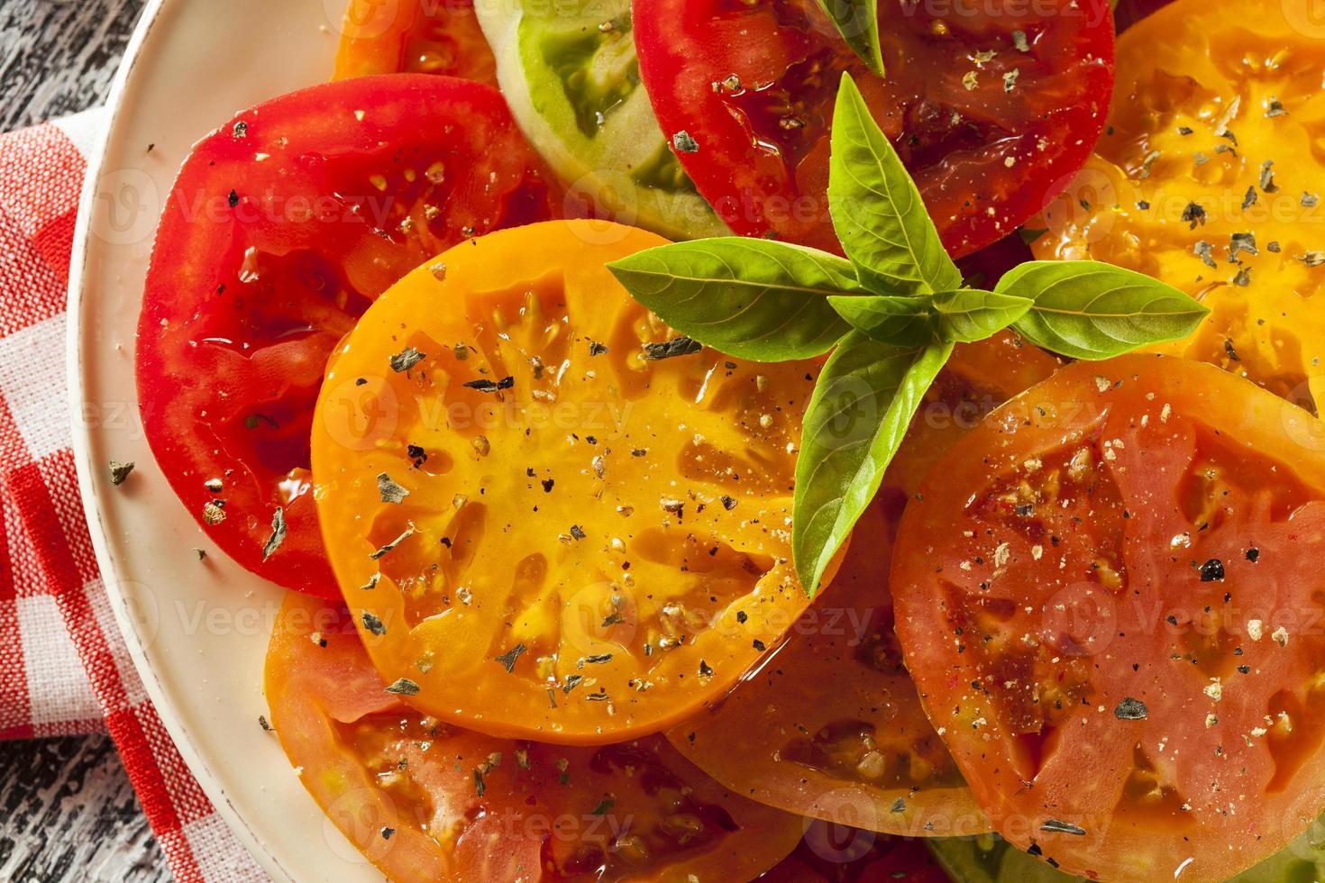 salade de tomates patrimoniale saine photo