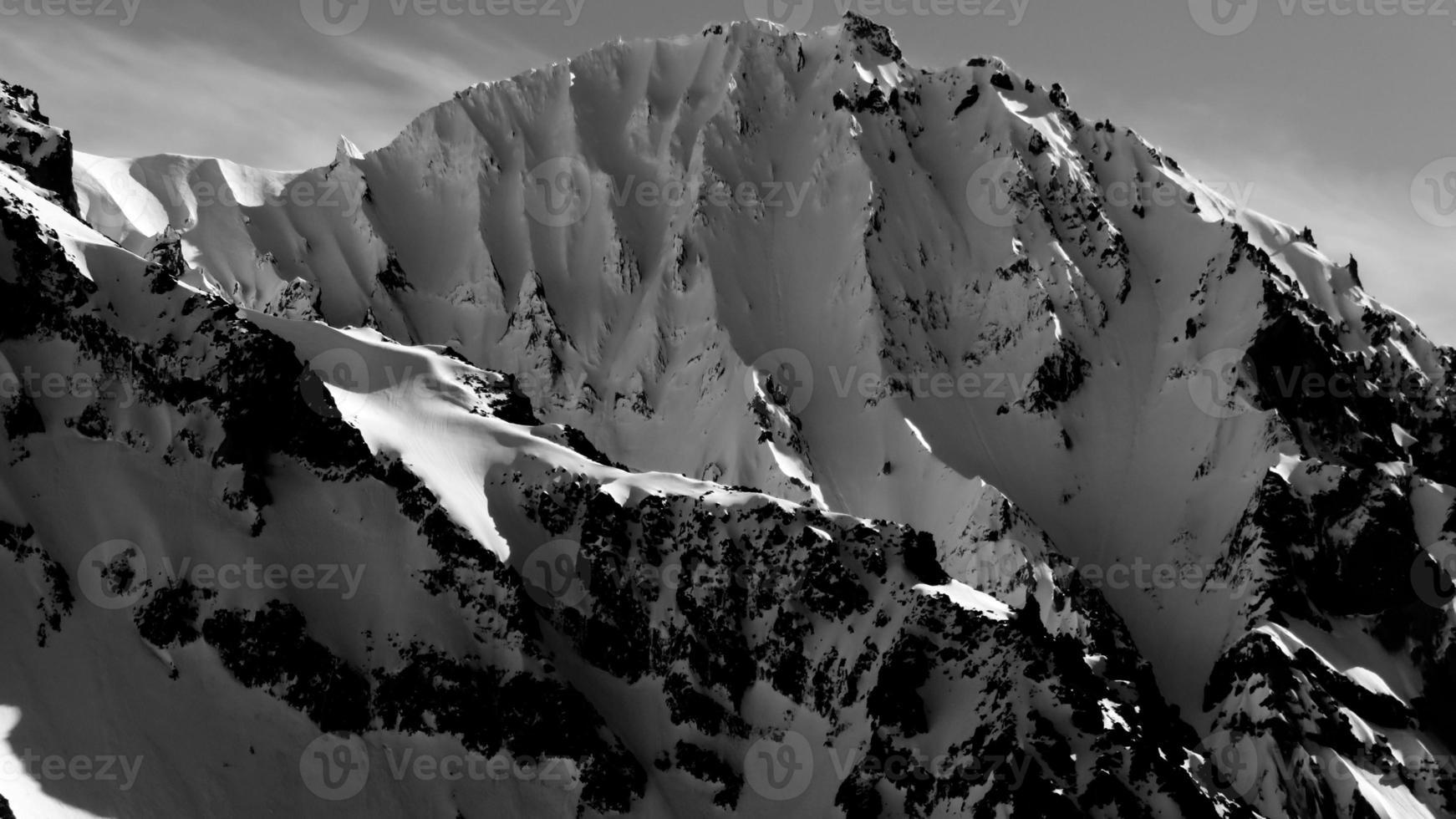 Atwell Peak noir et blanc photo