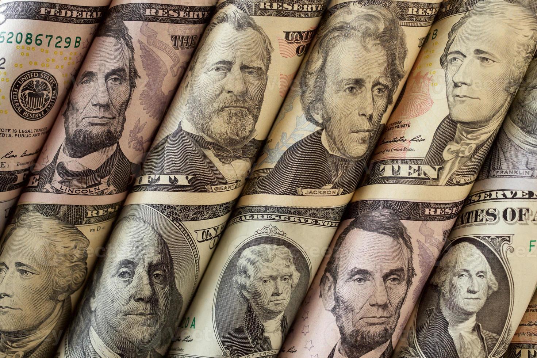 argent ou portraits de présidents photo