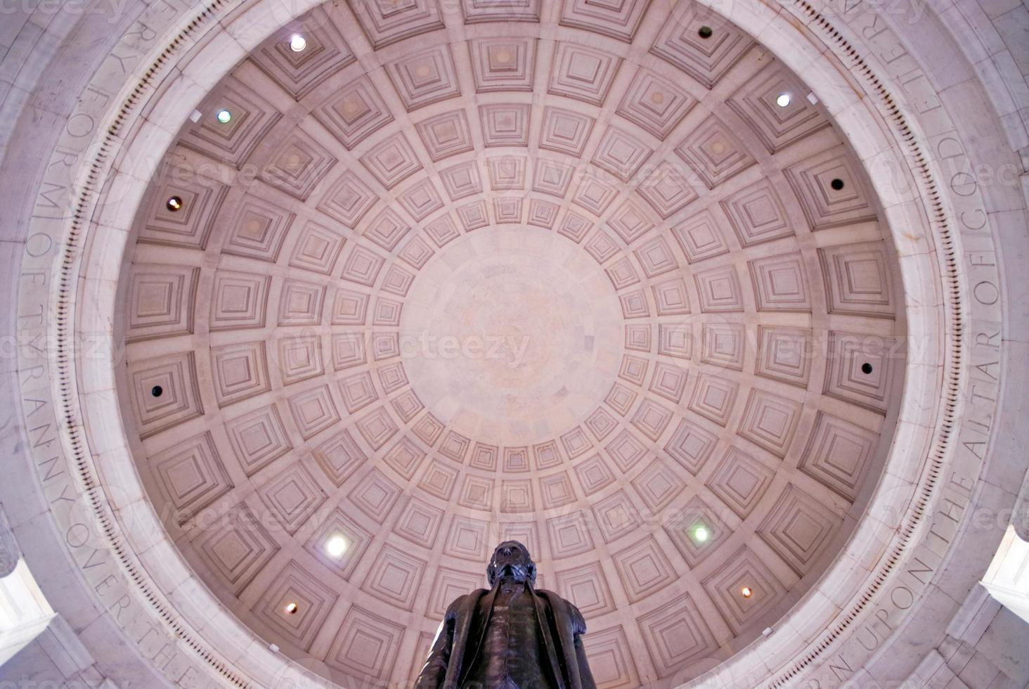 intérieur du mémorial de jefferson photo