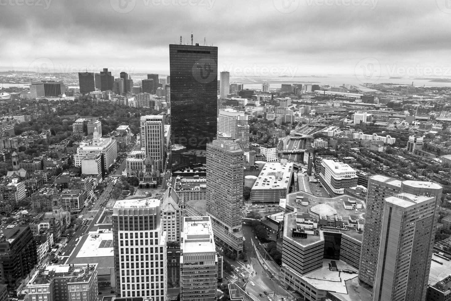 vue aérienne de boston dans le massachusetts, usa. photo
